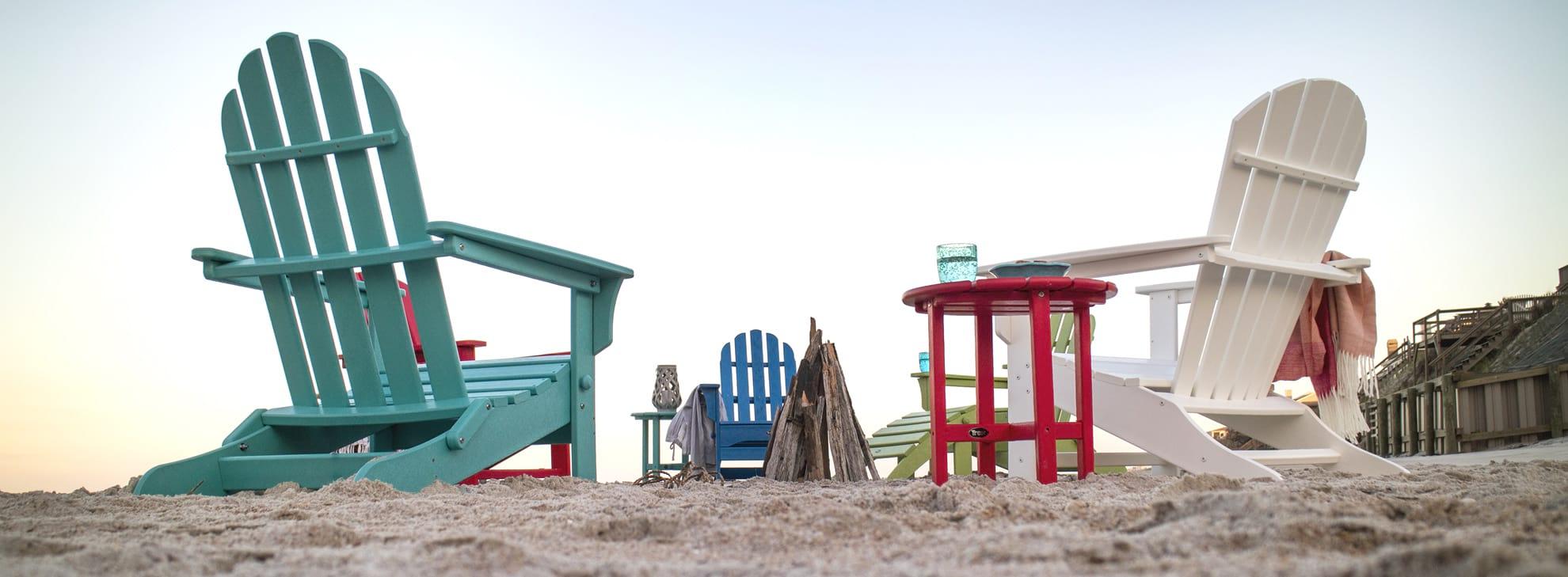 Adirondack Chairs on a beach