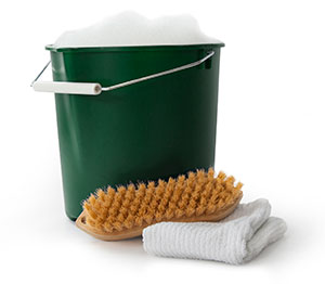 Soap and water bucket