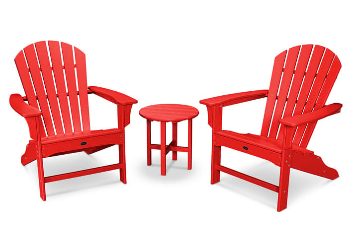Yacht Club Shellback 3-Piece Adirondack Set in Sunset Red  sc 1 st  Trex® Outdoor Furniture & Outdoor Composite Furniture by Type | Trex® Outdoor Furniture™